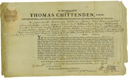 36001: Thomas Chittenden Document Signed.