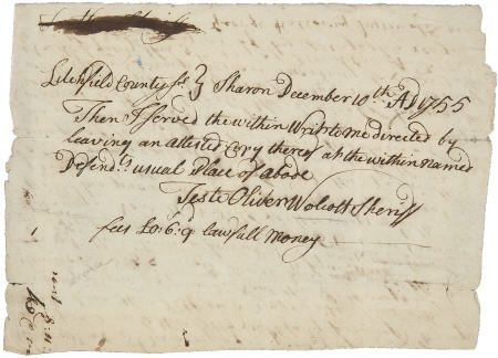 36013: Oliver Wolcott Autograph Document Signed