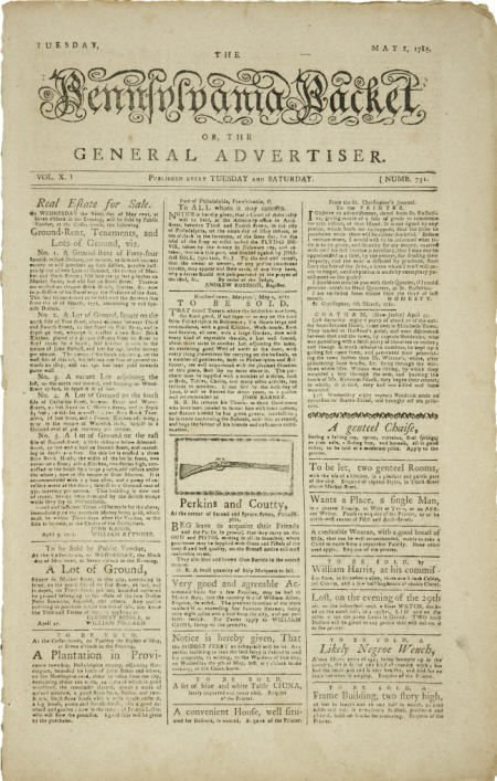 36016: Revolutionary War Newspaper,