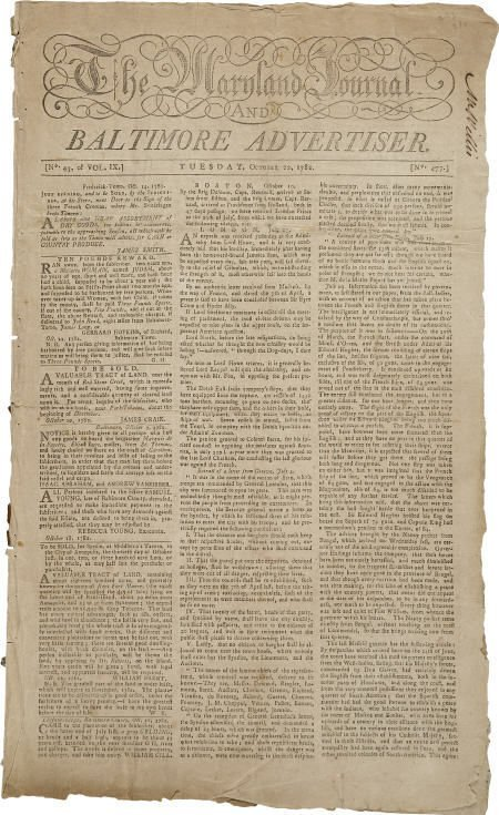 36020: Revolutionary War Newspaper,