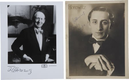 36208: Vladimir Horowitz-Two Signed Photographs,