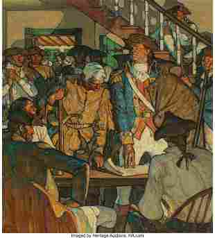 68157: Harvey T. Dunn (American, 1884-1952) Ethan Allen