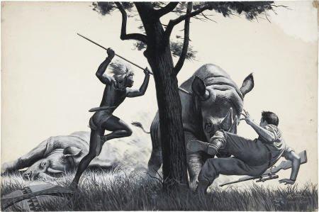 87004: MORT KUNSTLER (American b. 1931) Zulu Rescue