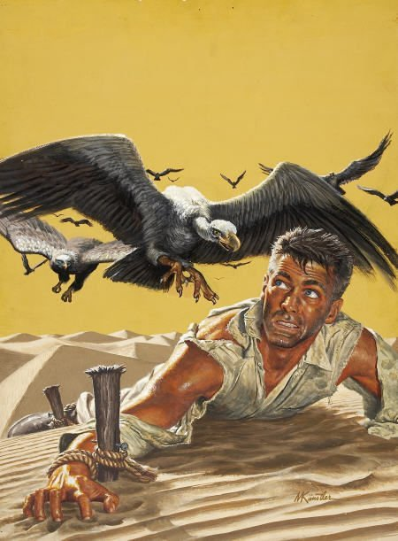 87006: MORT KUNSTLER (American b. 1931) Staked Out In