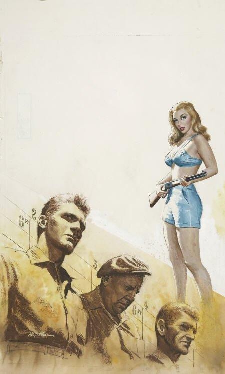 87007: MORT KUNSTLER (American b. 1931) The Line Up,