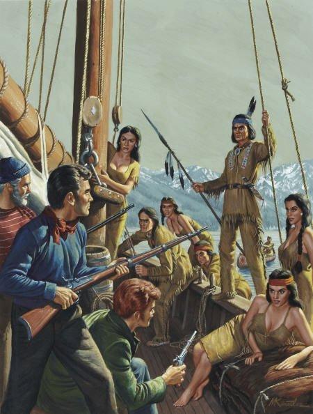 87008: MORT KÜNSTLER (American b. 1931) Indian Boarding