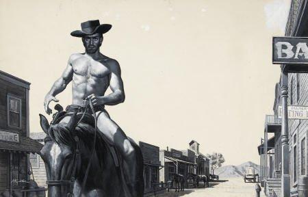 87009: MORT KUNSTLER (American b. 1931) The West's