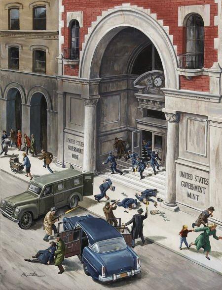 87017: MORT KUNSTLER (American b. 1931) Robbing the