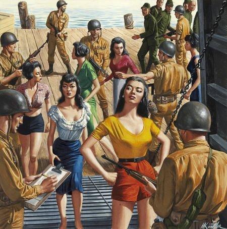 87024: MORT KÜNSTLER (American b. 1931) The Marines Who