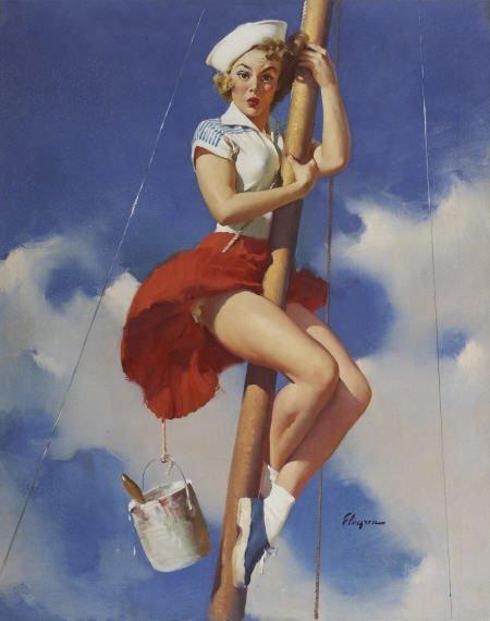 88106: GIL ELVGREN (American 1914 - 1980)  Oil on