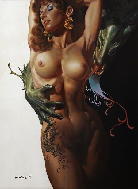 89106: BORIS VALLEJO (American b.1941) Dragon Prince,