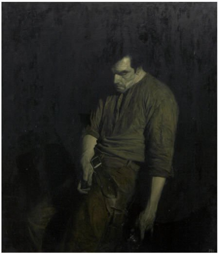 89051: PHIL HALE (American b.1963) Gunslinger, 2005 Oil