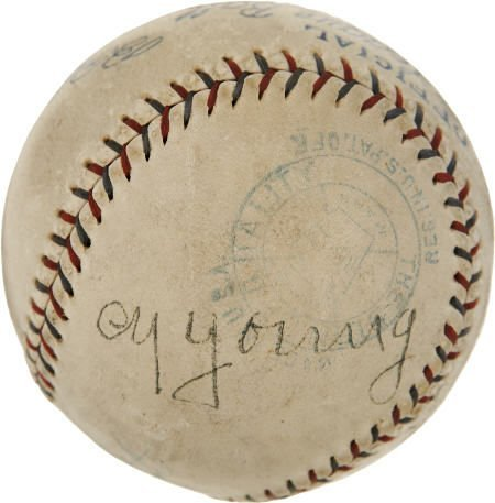19583: Late 1920's Cy Young Signed Baseball.