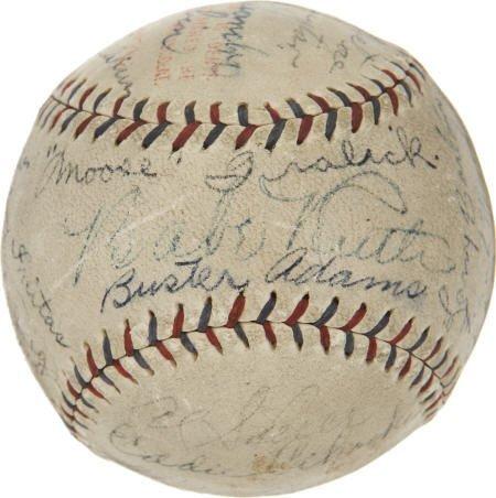 19584: Circa 1927 Babe Ruth Signed Barnstorm Baseball.