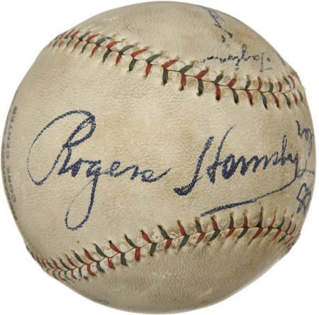 19591: 1932 Chicago Cubs Signed Baseball with Speaker.