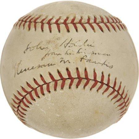 19596: Kenesaw Mountain Landis Single Signed Baseball.