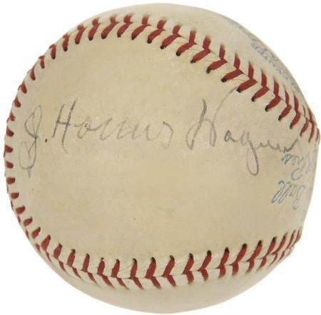 19601: 1940's Honus Wagner Signed Baseball.