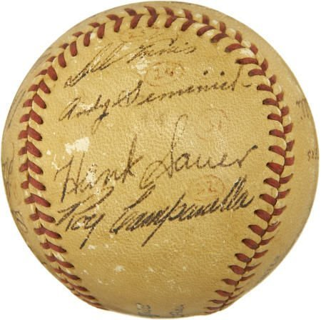 "19603: 1949 ""HR Hitters"" Signed Baseball w/ Campanella"