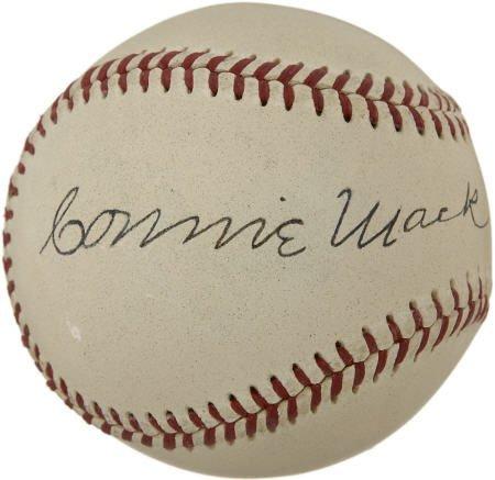 19604: Circa 1950 Connie Mack Signed Baseball.