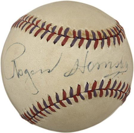19605: 1950's Rogers Hornsby Single Signed Baseball.