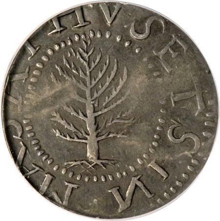 2: 1652<SHILNG Pine Tree Shilling, Large
