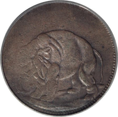 6: (1694) TOKEN London Elephant Token, Thin