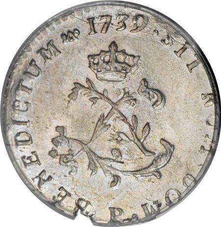 11: 1739-P<SOU M French Colonies Sou Marque MS63