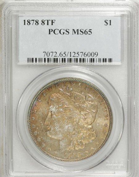 1159: 1878 8TF $1 MS65 PCGS.