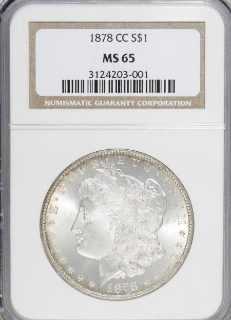 1165: 1878-CC $1 MS65 NGC.