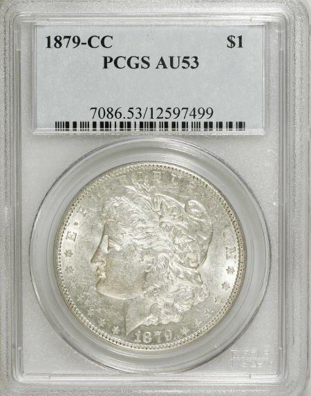 1169: 1879-CC $1 AU53 PCGS.