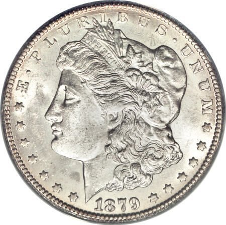1177: 1879-CC $1 Capped Die MS61 PCGS.