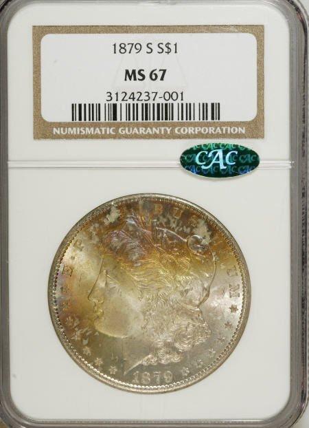 1179: 1879-S $1 MS67 NGC. CAC.