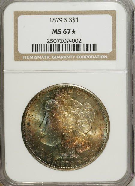 1180: 1879-S $1 MS67 NGC.
