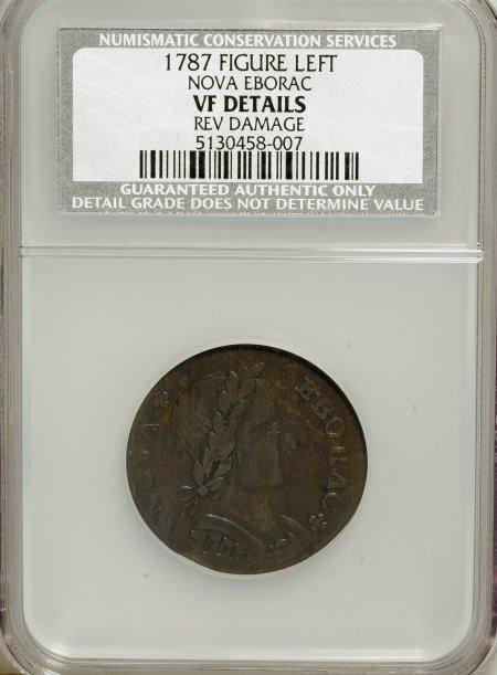 7021: 1787 COPPER Nova Eborac Copper, Seated