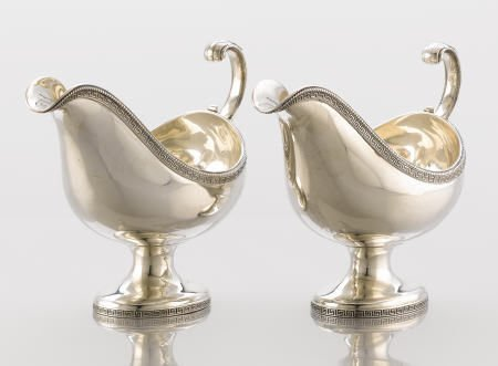 71002: Pair of Edward C. Moore Sauce Boats for Tiffany