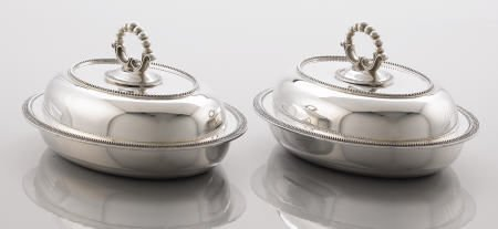 71003: A Pair of Edward C. Moore Covered Serving Dishes