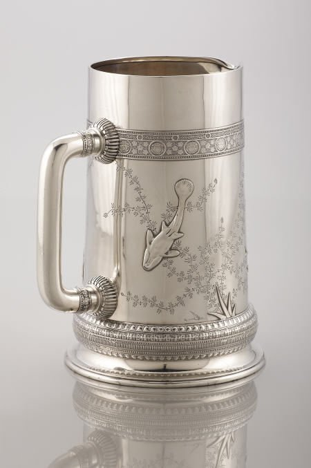 71018: Tiffany & Co. Silver Pitcher, Applied Decoration