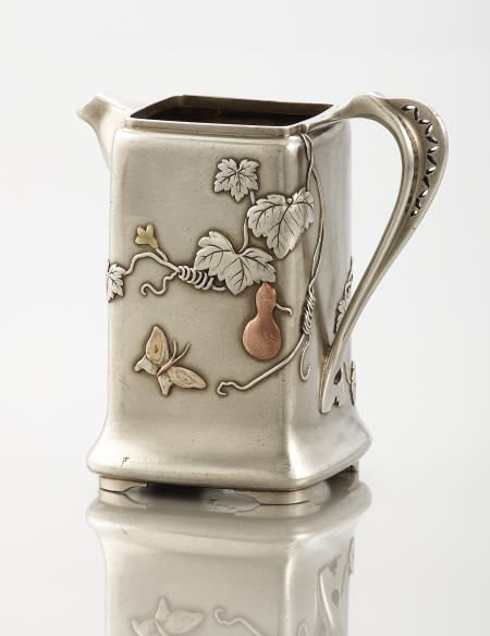 71021: A Tiffany & Co. Silver and Mixed Metal Cream Jug