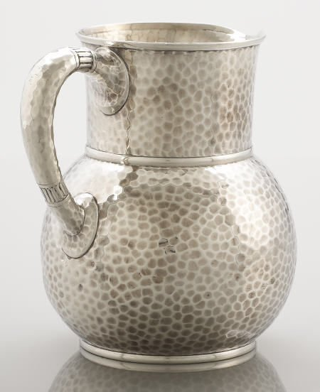 71024: Tiffany & Co., Hand Hammered Silver Pitcher