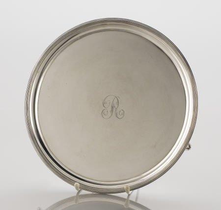 71095: Smith & Hayter Silver Tray on Three Feet, 1802-3