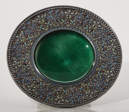 71107: Tostrup Silver Enameled Compote, 1901