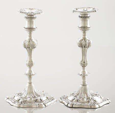 71089: A Pair of John Carter Silver Candlesticks