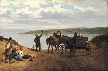 65004: KOVALEVSKY Carrage at the Water's Edge, DATE Oil