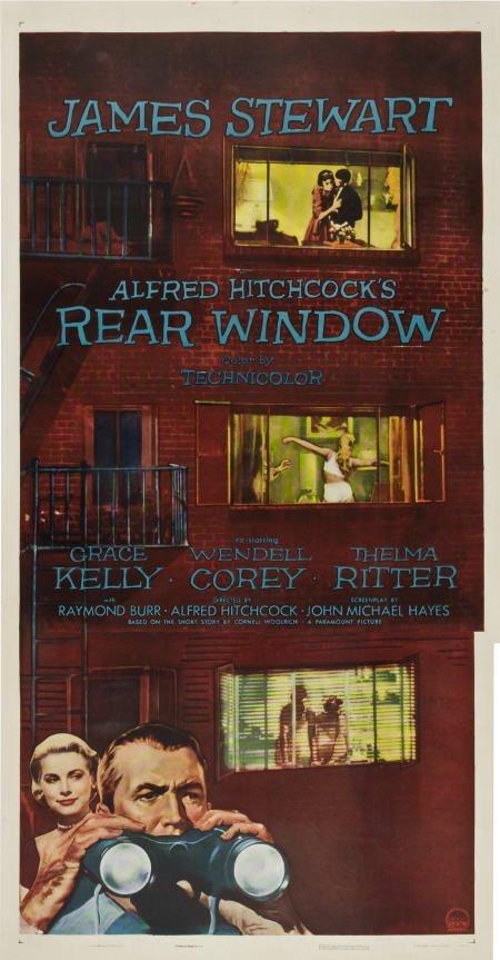 "85001: Rear Window (Paramount, 1954). Three Sheet (41"""