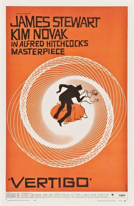 """85002: Vertigo (Paramount, 1958). One Sheet (27"""" X"""