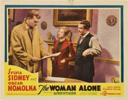 "85004: The Woman Alone (Gaumont, 1937). Lobby Card (11"""