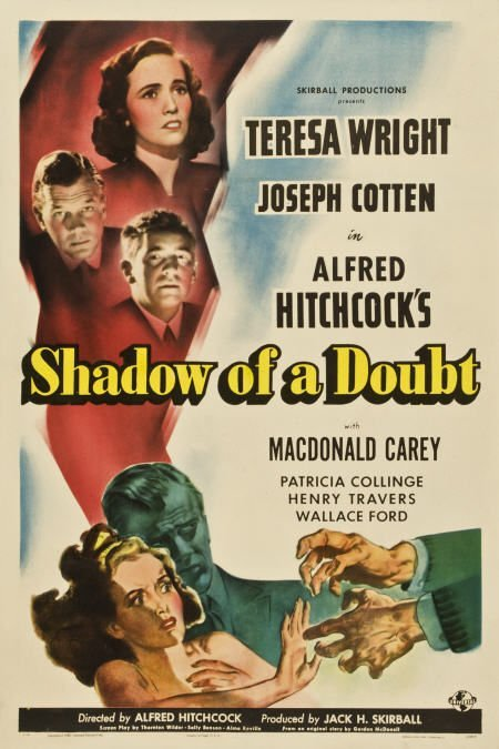 85005: Shadow of a Doubt (Universal, 1943). One Sheet,