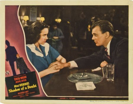85006: Shadow of a Doubt (Universal, 1943). Lobby Card