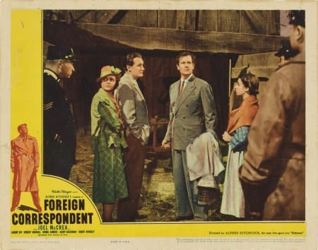 85012: Foreign Correspondent (United Artists, 1940).