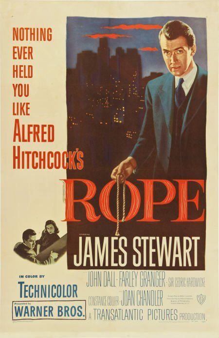 """85013: Rope (Warner Brothers, 1948). One Sheet (27"""" X"""